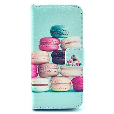 hoesje Voor iPhone 5 hoesje Portemonnee met standaard Flip Volledige behuizing Voedsel Hard PU-leer voor iPhone SE/5s iPhone 5