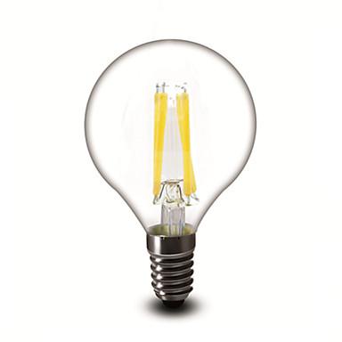 E12 Lâmpadas de Filamento de LED G45 4 COB 400 lm Branco Quente Regulável AC 110-130 V 1 pç