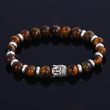 Homme Agate Perles Bracelets de rive - Personnalisé, Mode Bracelet Noir / Marron / Bleu Pour Mariage / Soirée / Cadeau