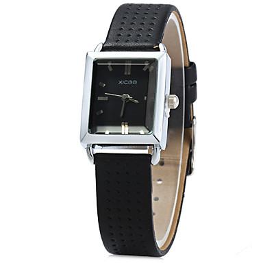 Dames Modieus horloge Kwarts Leer Band Zwart Wit Rood