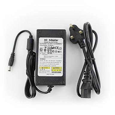 yanse® 12V5A cctv systeem power adapter + AC 100 ~ 240V 50 / 60Hz ingang DC 12V 5000mA uitgang (EU / AU / VK / VS-norm) onder leiding