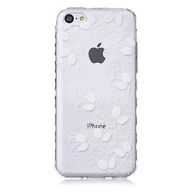 deixa escorregar pega ondas padrão TPU caso de telefone macio para iphone 5c