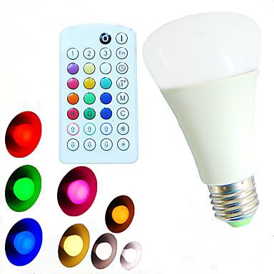 E26/E27 LED-bollampen A60 (A19) 18 leds SMD 5730 Dimbaar Op afstand bedienbaar Decoratief Warm wit Koel wit Natuurlijk wit RGB 800lm