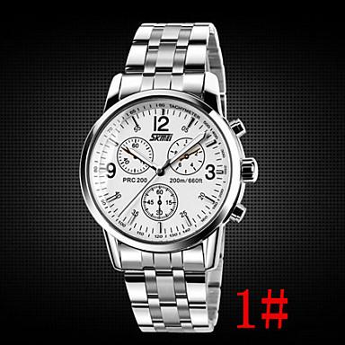 זול שעוני גברים-בגדי ריקוד גברים שעון יד שעון תעופה קווארץ מתכת אל חלד כסף 30 m עמיד במים אנלוגי אריסטו - 1# 2# 3#