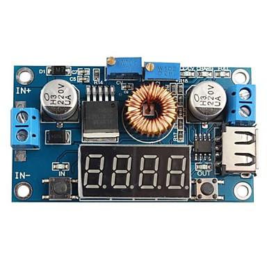 dc 5a leidde rijden lithium batterij oplader met voltmeter ampèremeter DC-DC-module