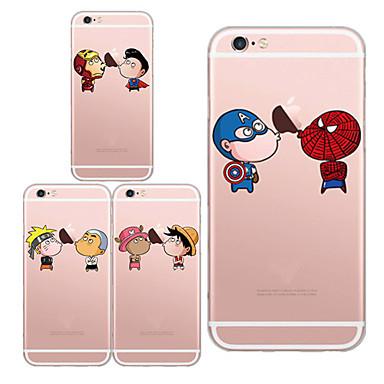 hoesje Voor iPhone 6 Plus iPhone 6 Transparant Patroon Achterkantje Spelen met Apple-logo Zacht TPU voor iPhone 6s Plus iPhone 6 Plus