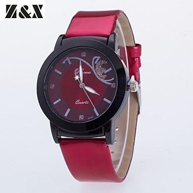 Mulheres Relógio de Moda Quartzo PU Banda Preta Vermelho Roxa Preto Roxo Vermelho