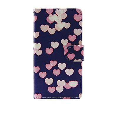 hoesje Voor Apple iPhone 7 Plus iPhone 7 Kaarthouder Portemonnee met standaard Flip Volledig hoesje Hart Hard PU-nahka voor iPhone 7 Plus