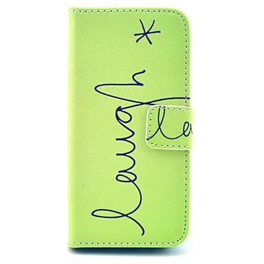 hoesje Voor iPhone 5 hoesje Kaarthouder met standaard Flip Volledige behuizing Woord / tekst Hard PU-leer voor iPhone SE/5s iPhone 5