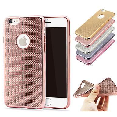 Voor iPhone 6 hoesje / iPhone 6 Plus hoesje Beplating hoesje Achterkantje hoesje Effen kleur Zacht TPU iPhone 6s Plus/6 Plus / iPhone 6s/6