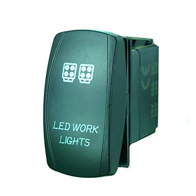 iztoss 5pin laser LED verlichting tuimelschakelaar aan-uit LED-licht 20a 12v blauw met draden te installeren