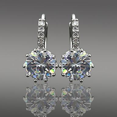 Druppel oorbellen Kristal Legering Bloemvorm Zilver Sieraden Voor Bruiloft Feest Dagelijks Causaal 1 stuks