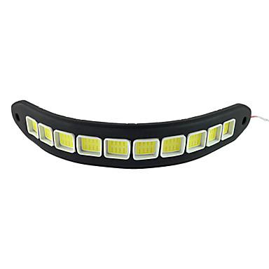 2pçs silício impermeável flexível LED 10w 10 cob 26 centímetros 600lm luz branca LED luz de circulação diurna (DC12V)