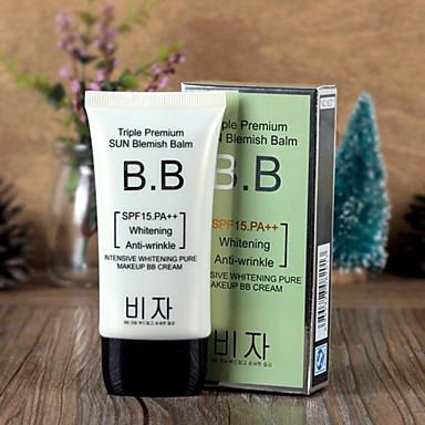 1 Foundation Nat Balsem Witter maken Vochtigheid Concealer Oneffen huidtint Naturel Poriënverkleinend Verheldering Gezicht