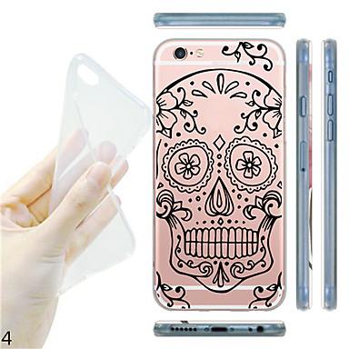 Pour Coque iPhone 6 Coques iPhone 6 Plus Transparente Motif Coque Coque Arrière Coque Dessin Animé Flexible PUT pouriPhone 6s Plus/6 Plus