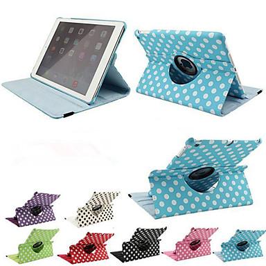 impressão de luxo bolinhas 360 rotação estojo de couro pu para casos Apple iPad tablet ar inteligente aleta capa com suporte