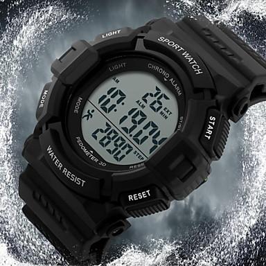 SKMEI Homens Relógio Esportivo Relógio de Pulso Digital LCD Calendário Cronógrafo Impermeável alarme Energia Solar Relógio Esportivo