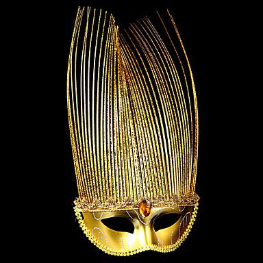 Carnaval Masker Kinderen Halloween Carnaval Festival / Feestdagen Halloweenkostuums blauw Rood Paars Gouden Effen