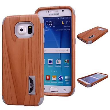 Para Samsung Galaxy Capinhas Antichoque Capinha Capa Traseira Capinha Madeira PC Samsung S6