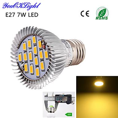 YouOKLight 600 lm E26/E27 Lâmpadas de Foco de LED A50 15 leds SMD 5630 Decorativa Branco Quente AC 110-130V AC 220-240V