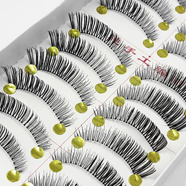 Pestana 10 Estendido Pestanas Levantadas Volumizado Natural Maquiagem de Festa Maquiagem para o Dia A Dia Tiras Completas de Cílios
