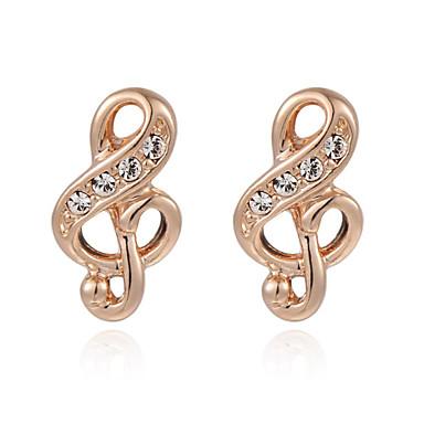 Oorknopjes Kristal Kubieke Zirkonia Legering Zilver Gouden Sieraden Voor Bruiloft Feest Dagelijks Causaal 2 stuks