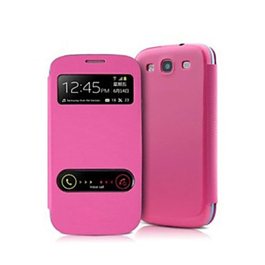 Slim Leather Flip S-view Window Cover Case for Samsung Galaxy S3 I9300