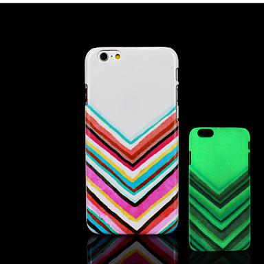 Para Capinha iPhone 6 / Capinha iPhone 6 Plus Brilha no Escuro / Estampada Capinha Capa Traseira Capinha Linhas / Ondas Rígida PCiPhone