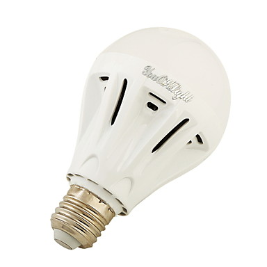 7W E27 مصابيح كروية LED A60(A19) 20 SMD 5730 700 lm أبيض دافئ أبيض كول AC220 V قطعة