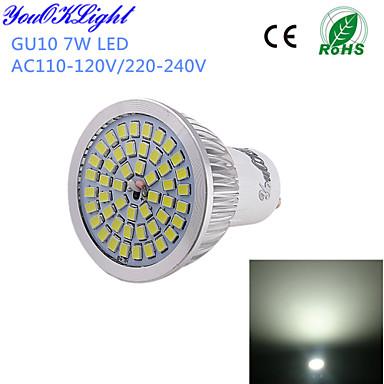 YouOKLight 600 lm GU10 LED-spotlampen A50 48 leds SMD 2835 Decoratief Koel wit AC 110-130V AC 220-240V