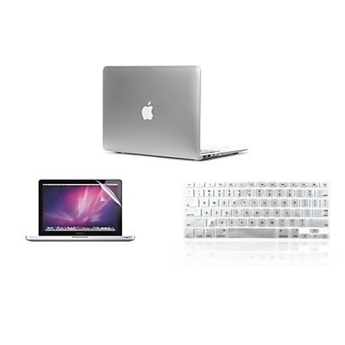3 in 1 ultra-dunne licht metalen kleur dekking geval + toetsenbord cover + screen protector voor de MacBook Air 11