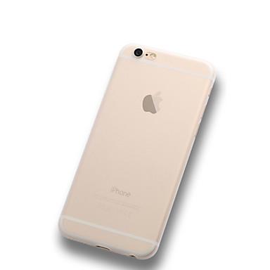 Capinha Para iPhone X iPhone 8 Plus iPhone 6 iPhone 6 Plus Ultra-Fina Áspero Translúcido Capa Traseira Côr Sólida Macia PC para iPhone X