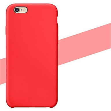 Capinha Para Apple iPhone 6 iPhone 6 Plus Other Capa traseira Côr Sólida Macia Silicone para iPhone 6s Plus iPhone 6s iPhone 6 Plus