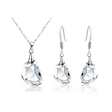 Women S Crystal Jewelry Set Crystal Ladies Unique Design Simple