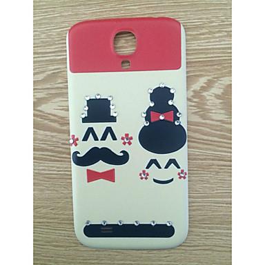 broca e getleman casal rosto padrão pc volta caso capa para Samsung Galaxy S4 / 9500