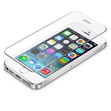 0.3mm gehard glas screen protector met microfiber doekje voor iPhone 5 / 5s / 5c