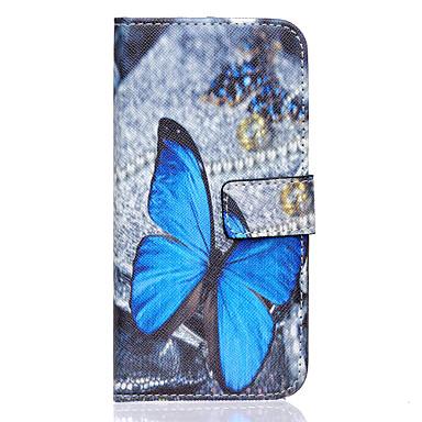 Capinha Para Samsung Galaxy Samsung Galaxy Capinhas Porta-Cartão Carteira Com Suporte Flip Capa Proteção Completa Borboleta PU Leather