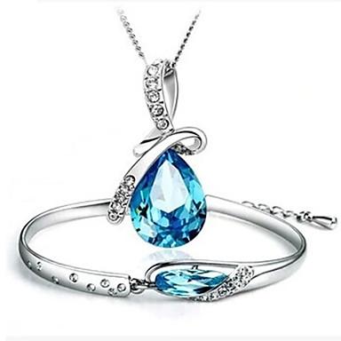 Dames Bruiloft Feest Verjaardag Verloving Dagelijks Causaal Kristal Kruis Kettingen Armband