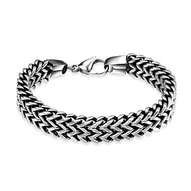 Heren Armbanden met ketting en sluiting - Roestvast staal Gepersonaliseerde, Uniek ontwerp, Modieus Armbanden Zilver Voor Feest / Dagelijks / Causaal