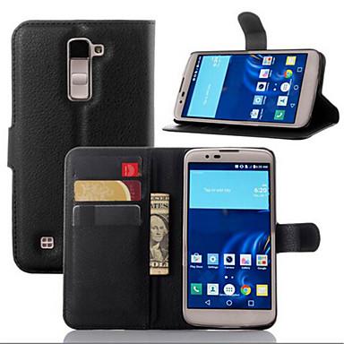Capinha Para LG G2 LG G3 Outro LG LG K10 LG K7 LG G4 Capinha LG Porta-Cartão Carteira Com Suporte Flip Capa Proteção Completa Côr Sólida