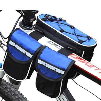 FJQXZ Bolsa de Bicicleta 3LL Bolsa para Quadro de Bicicleta Prova-de-Água Á Prova-de-Chuva Multifuncional Bolsa de Bicicleta Náilon Bolsa