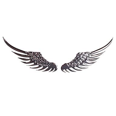 carro paster de metal estéreo paster anjo asas adesivos para prata carro