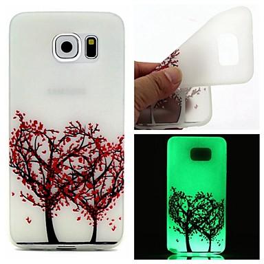 Para Samsung Galaxy Capinhas Brilha no Escuro Capinha Capa Traseira Capinha Árvore TPU Samsung S7