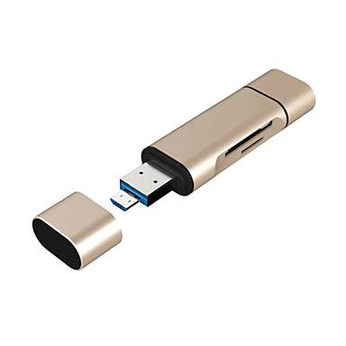 3 in 1 usb-a / micro usb / C-type poort TF / SD-kaartlezer met OTG naar nieuwe macbook, android OTG telefoon en nog veel meer