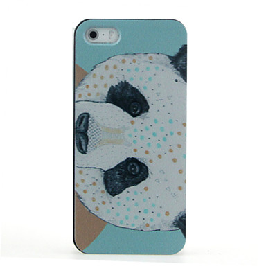 Capinha Para Capinha iPhone 5 Estampada Capa Traseira Animal Panda Rígida PC para iPhone SE/5s iPhone 5