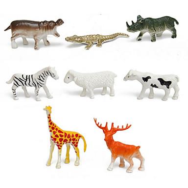 Paard Krokodil Schaap Zebra Hert Dier Actiefiguren & Knuffels Modelbouwsets Dieren Simulatie Noviteit Cartoon Muovi Jongens Meisjes