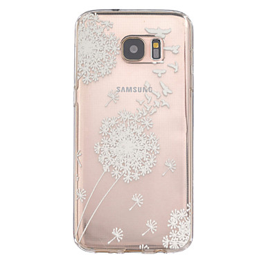 Case For Samsung Galaxy Samsung Galaxy S7 Edge Embossed Back Cover Dandelion TPU for S7 edge S7