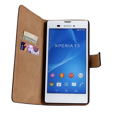 padrão de estilo carteira de luxo caso pu couro aleta com snap magnético e cartão para Sony Xperia t3 / z3 Mini / m2