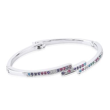 Dames Armbanden met ketting en sluiting Kristal Wit Paars Blauw Roze Regenboog Sieraden Voor Bruiloft Feest Dagelijks Causaal 1 stuks
