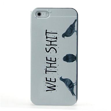 hoesje Voor iPhone 5 hoesje Patroon Achterkantje Woord / tekst Hard PC voor iPhone SE/5s iPhone 5